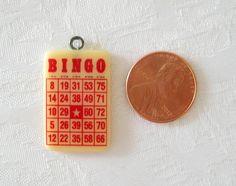 Bakelite Charm Red BINGO Card