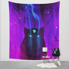 Wall tapestry space art galaxy art wolf art wolf by TheMindBlossom, space tapestry, dorm tapestry, college tapestry, apartment tapestry, hippie tapestry, boho tapestry, bohemian tapestry
