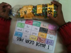 I Spy sight word bottles. Change it up a little for second grade. Maybe they have to find and write them?