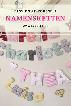 Nähanleitung Häuschenkissen Easy to understand instructions for fabric letters. Make your name necklace yourself! Tutorial with many pictures and explanations Love Sewing, Sewing For Kids, Baby Sewing, Diy For Kids, Cottage Cushions, Crafts To Sell, Diy And Crafts, Sewing Crafts, Sewing Projects