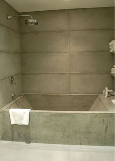 Concrete Tub, Concrete Shower  Tubs and Showers  Stone Soup Concrete  Easthampton, MA Bathroom Renos, Bathroom Layout, Bathroom Interior Design, Small Bathroom, Stone Bathroom, White Bathrooms, Luxury Bathrooms, Master Bathrooms, Dream Bathrooms