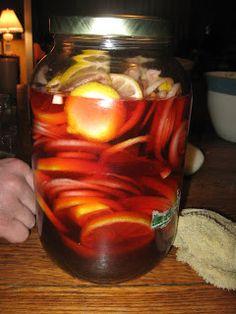 Homemade Cough Syrup- aka 'snake juice'.