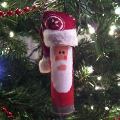 My version of the Shotgun Shell Santa that is floating around on Pinterest!! I just love the way it turned out!! So easy and lots of fun to make!!!!