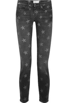 Current/Elliott|The Stiletto star-print low-rise skinny jeans|NET-A-PORTER.COM