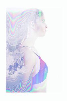 Valerie Kaczynski - graphic holographic fashion photography portrait