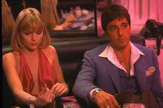 Scarface Film, Elvira Scarface, Al Pacino Michelle Pfeiffer, Elvira Hancock, Gangster Movies, Dvd Blu Ray, Film Aesthetic, About Time Movie, The Godfather