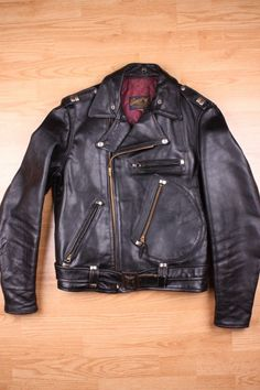 Vintage Buco J-82 Leather Motorcycle Jacket.