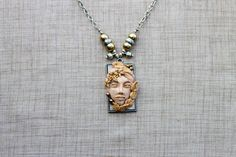 Check out my latest Etsy listing at https://www.etsy.com/listing/239732823/ooak-polymer-clay-cameo-pendant-necklace