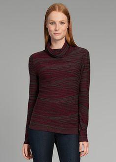 Fine Gauge Merino Reverse Jersey Intarsia Sweater