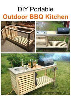 DIY Portable Outdoor BBQ Kitchen