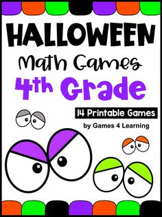 Here are some fun math games to keep your little monsters busy this Halloween! 14 Printable Halloween Math Games to make math fun! Math For 4th Graders, Third Grade Math Games, Fourth Grade Math, Math Class, Maths, Classroom Halloween Party, Halloween Math, Halloween Activities, Halloween Ideas