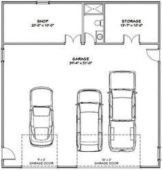 plans, garage plans, & shed plans.PDF house plans, garage plans, & shed plans. Tiny House Blueprint Post Frame Home/Barndominium Plan 3 Car Garage Plans, Garage Apartment Plans, Basement House Plans, Garage Apartments, Diy Garage, Garage Ideas, Garage Storage, Garage Art, Garage Shop