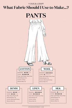 32 ideas sewing clothes pants costura for 2019 Sewing Basics, Sewing Hacks, Sewing Tutorials, Sewing Crafts, Sewing Patterns, Sewing Tips, Sewing Ideas, Dress Patterns, Shirt Patterns