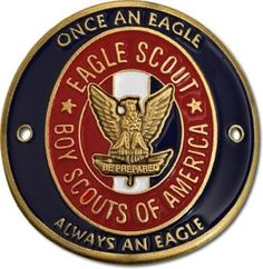 Here's a handsome Eagle Scout Hiking Stick Medallion.