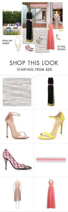 """""""Shoes and sandals for long dresses"""" by happiestime ❤ liked on Polyvore featuring Boutique Moschino, Oscar de la Renta, Stuart Weitzman, Casadei, Moschino, Three Floor, Elie Saab, Cyan Design, Pumps and Dior"""