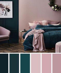 10 Best Color Schemes for Your Bedroom {Deep Ocean Teal Mauve}, Blush . 10 Best Color Schemes for Your Bedroom {Deep Ocean Teal Mauve}, Blush . 10 Best Color Schemes for Your Bedroom {Deep Ocean Teal Mauve}, Blush . Best Color Schemes, Bedroom Color Schemes, Color Combinations, Interior Design Living Room, Living Room Decor, Color Interior, Interior Ideas, Bedroom Wall, Mauve Bedroom