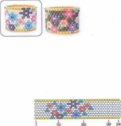 FLOWERY beaded rings...love these! they bead up fast! Page 1 of 2