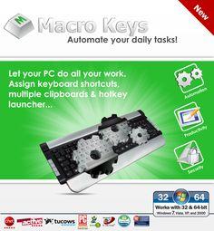 Macro Keys, Keyboard Shortcuts, Online Form, Clipboard, It Works, Target, Window, Electronics, Destinations