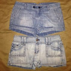 PRICE DROP!! 2 Pair AE Light Wash Jean Shorts Excellent condition. 2 pair of American Eagle light wash jean shorts. Size 10. American Eagle Outfitters Shorts Jean Shorts