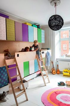 the boo and the boy: built-ins in kids' rooms