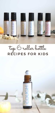 Learn how to make the top 6 roller bottle recipes for kids, with recipes ranging from helping with growing pains to improving the mood. Each recipe includes a colorful, easy-to-read printable label to put on your roller bottle, so you and your child know what is in each one. Wintergreen Essential Oil, Oregano Essential Oil, Cedarwood Essential Oil, Chamomile Essential Oil, Rose Essential Oil, Kids Cough, Skin Roller, Roller Bottle Recipes, Wild Orange Essential Oil