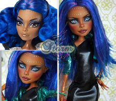 OOAK Monster High Custom Repaint Robecca Steam ~ Storm~ dressed by Rogue Lively by RogueLively on Etsy https://www.etsy.com/listing/241645739/ooak-monster-high-custom-repaint-robecca