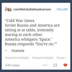Hetalia Cold War<---The only way I can honestly imagine this going down, honestly.