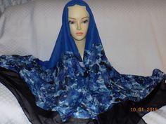 Blue & Black Flower Garden - http://www.royalhaircovers.com/?product=blue-black-flower-garden
