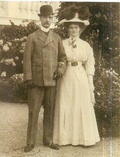 "Grand Duchess Maria Pavlovna Romanova of Russia (the Younger) with grandfather King George I of the Hellenes. ""AL"""