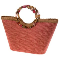 Coral Bead Handle Bag | Clothing Accessories | Womens | Handbags Wallets | Cracker Barrel Old Country Store - Cracker Barrel Old Country Store