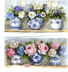 Fabric print - Blue & White in a Row - Postage is included Australia Wide