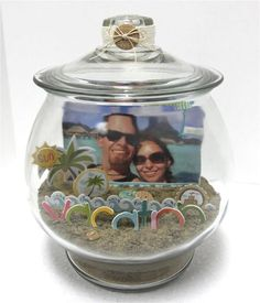 Cute way to display beach photo. Minus the scrapbook letters. I think just the sand and a photo would be cute.
