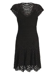 Russian Crochet Patterns With Charts | instructions to make your own pattern for a little black dress