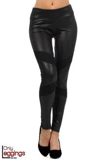 Leather and Lace Faux Leather Leggings
