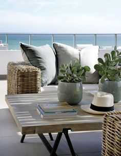Beautifully Seaside / formerly Chic Coastal Living: Western Cape, South Africa Beach House Outdoor Rooms, Outdoor Living, Outdoor Decor, Outdoor Lounge, Coastal Homes, Coastal Living, Beach Homes, Coastal Farmhouse, Coastal Cottage