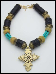 ADDIS ABABA Ethiopian Cross Very Old by sandrawebsterjewelry, $225.00