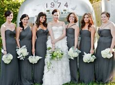 Am Bridesmaid Dresses In Charcoal Pretty Color