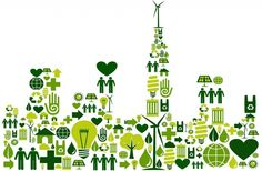 Like the small icons into bigger picture Ville Durable, Plant Icon, Small Icons, Simple Icon, Power Energy, Environmental Art, Work Inspiration, Art Plastique, Digital Media