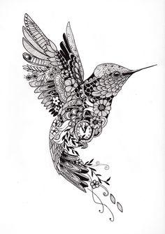 """Tattoo template """"Hummingbird""""- Tattoo-Vorlage """"Kolibri"""" Tattoo design of a . - Tattoo template """"Hummingbird""""- Tattoo-Vorlage """"Kolibri"""" Tattoo design of a hummingbird of - Dotwork Tattoo Mandala, Mandala Tattoo Design, Tattoo Designs, Hummingbird Flower Tattoos, Hummingbird Drawing, Tattoo Bird, Hummingbird Quotes, Hummingbird Symbolism, Hummingbird Pictures"""