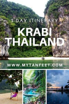 3 day itinerary in Krabi, Thailand: http://mytanfeet.com/thailand/3-days-in-krabi-thailand/