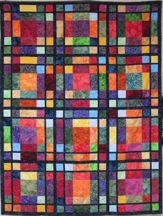Jewel Window quilt pattern at Picket Fence Fabrics (Ontario)