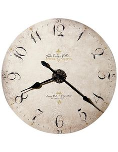 Howard Miller Moment In Time Oversized Enrico Fulvi Gallery Wall Clock Laser Cut Panels, Howard Miller, How To Make Wall Clock, Rustic Italian, Italian Style, Gold Highlights, Time Clock, Old World Style, Distressed Painting