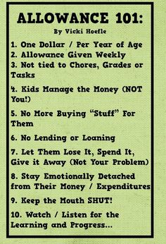 I like this allowance chart because it does not involve chores. Family chores should be required, then some jobs could pay as a way to make extra money. Chores And Allowance, Allowance For Kids, Allowance Chart, Parenting Advice, Kids And Parenting, Peaceful Parenting, Gentle Parenting, Parenting Quotes, Parenting Websites