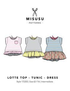 ae682e33c19f0 Lotte Dress - Tunic - Top PDF Sewing Pattern