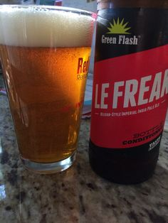 Green flash le freak Belgian style imperial IPA. Super heady and fizzy and aromatic. Didn't taste the Belgian. 2.5 stars