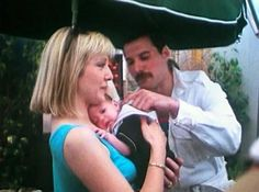 Freddie and his friend Mary Austin and her son.