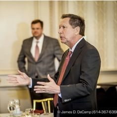 Ohio Governor John Kasich talks with the Ohio Hospital Association Board Members Thursday March 19 2015 at the Athletic Club of Columbus. (James D. DeCamp | http://ift.tt/1uidMgw | 614-367-6366)