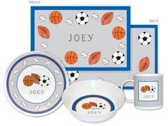 Sports Fan 4-Piece Dinnerware Set