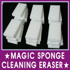Apparently Mr Clean Magic Erasers are just this stuff called Melamine Foam?  You can buy it in bulk on Amazon for WAY less than Mr Clean brand name! This also cleans whiteboards in classrooms better than anything else.