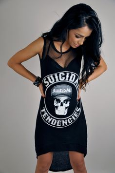 Suicidal Tendencies Dress. $59.00, via Etsy.  I need this for Orion this summer!!!